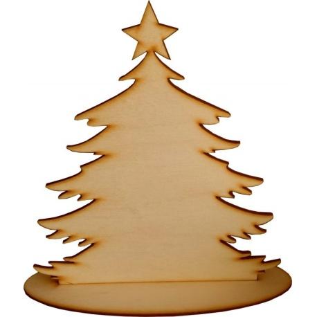 Vánoční dekorace - stromeček s podstavcem 20cm