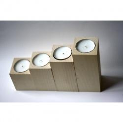 Set 4x svícny - hranaté