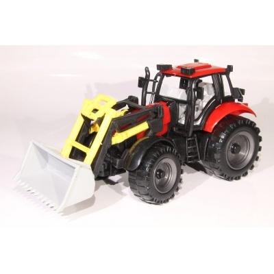 Model Traktor s radlicí - červený - 1:27