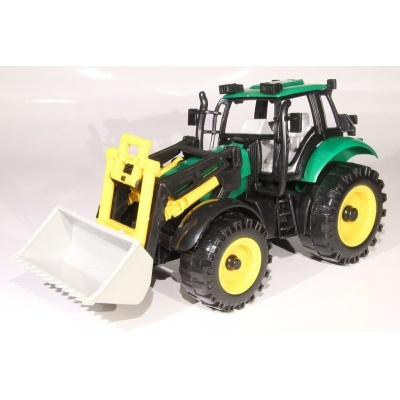 Model Traktor s radlicí - zelený - 1:27