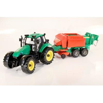 Model Traktor s balíkovačem - 1:27