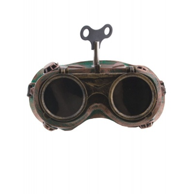 Brýle steampunk vyklápěcí s klíčkem