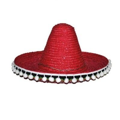 Sombrero - 35cm červené
