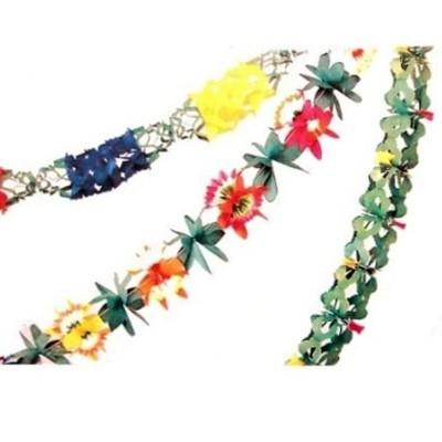 Girlandy 3ks s květinovými vzory - 3m