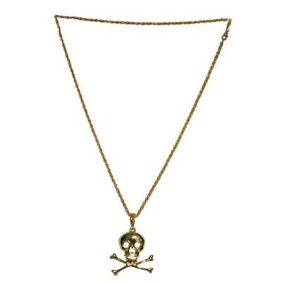 Náhrdelník lebka - pirát