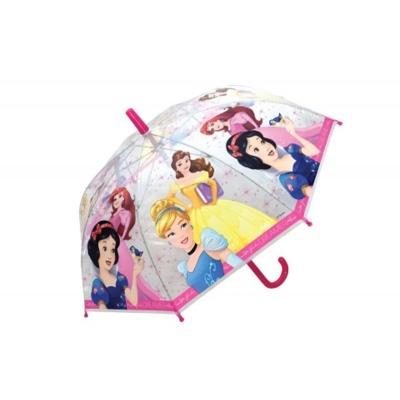 Deštník manual průhledný - Princezny