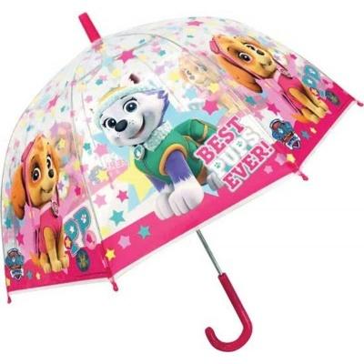 Deštník manual průhledný Tlapková patrola