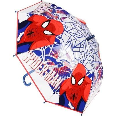 Deštník vystřelovací průhledný - Spiderman