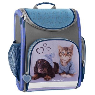 Luxusní školní batoh aktovka modrá Pes a kočka i pro prvňáčky