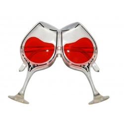 Brýle skleničky s vínem