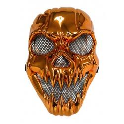 Maska lebka oranžová