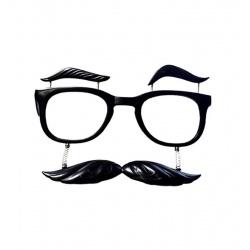 Brýle obočí a knír