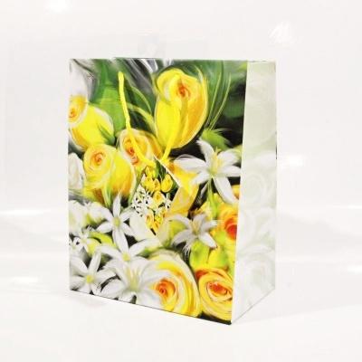 Dárková taška menší - květiny