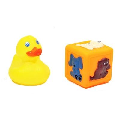 Hračky do vody pískací - kačenka a kostka