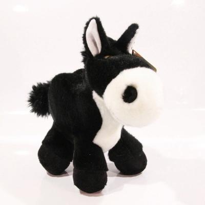 Plyšový kůň - černý