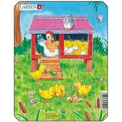 Puzzle Larsen - Slepice s kuřátky