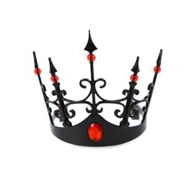 Černá koruna s červenými kameny