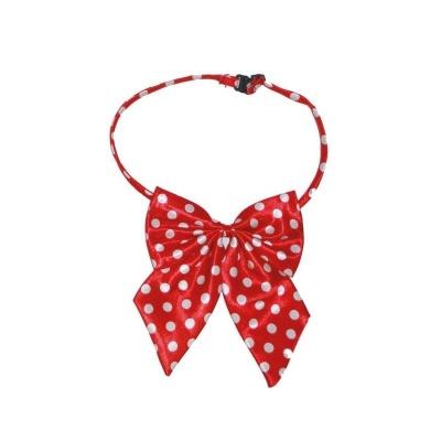 Motýlek mašle s puntíky - červená