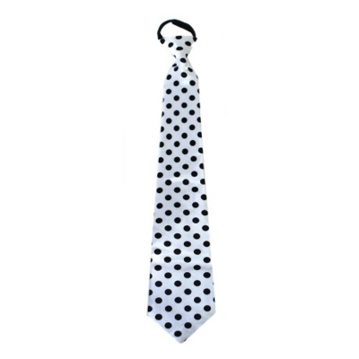Kravata s puntíky - bílá