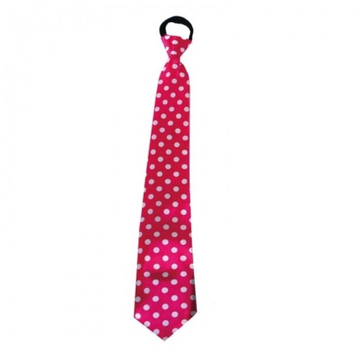 Kravata s puntíky - růžová