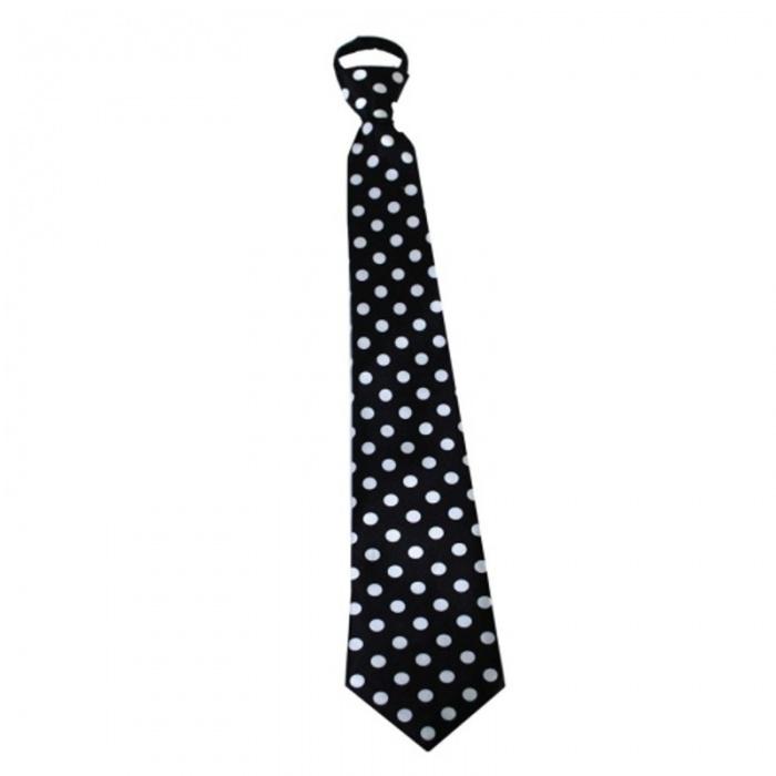 Kravata s puntíky - černá
