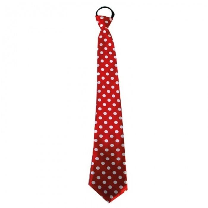 Kravata s puntíky - červená