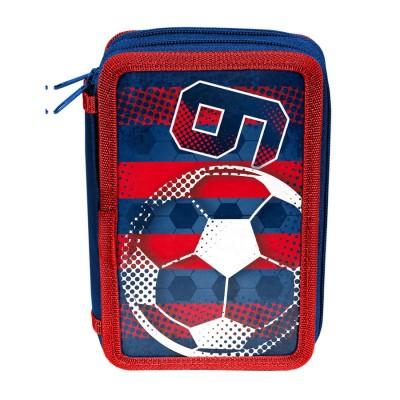 Školní dvoupatrové pouzdro penál Fotbal