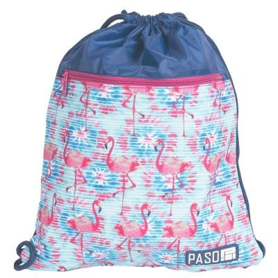 Batoh pytel vak s přední kapsou Flamingo plameňák