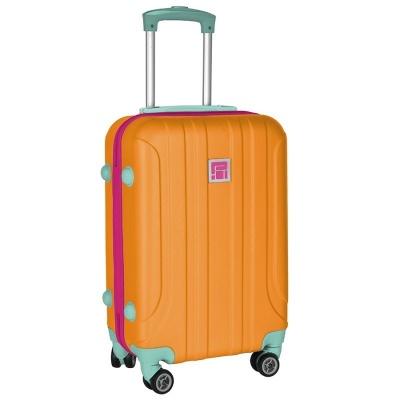 Cestovní kufr ABS oranžový střední