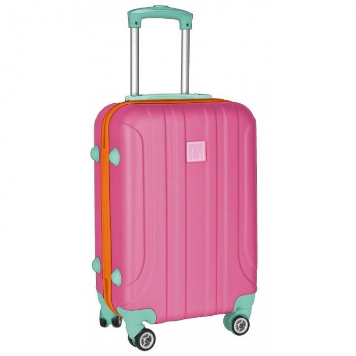 Cestovní kufr ABS růžový velký