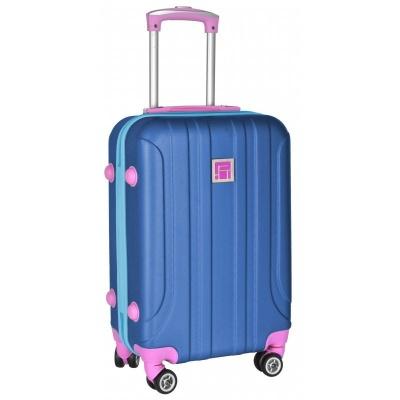 Cestovní kufr ABS modrý růžový velký