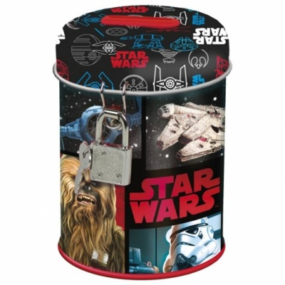 Kovová pokladnička kasička Star Wars