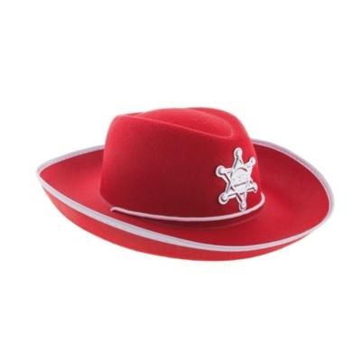 Kovbojský klobouk dětský červený