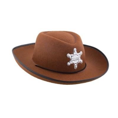 Kovbojský klobouk dětský hnědý