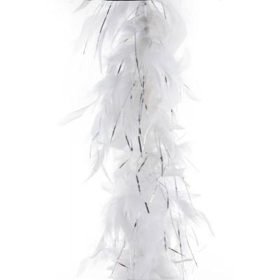 Boa bílé se stříbrnými nitkami 2m