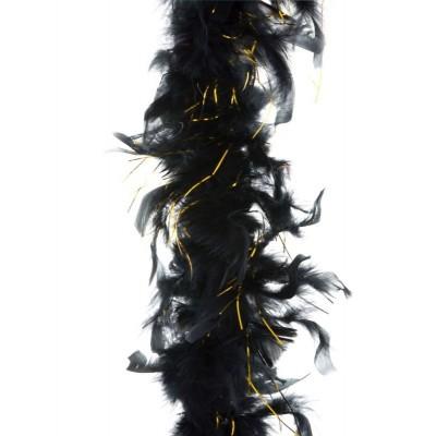 Boa černé se zlatými nitkami 2m