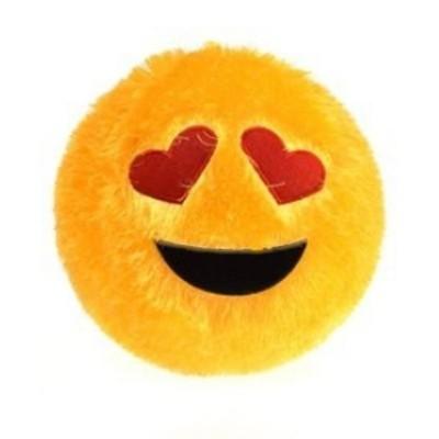 Plyšový střapatý míč - smajlík emoji - nafukovací