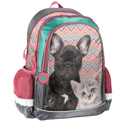 Školní batoh brašna Pes a kočka