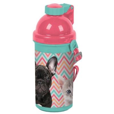 Plastová láhev 500ml Pes a kočka