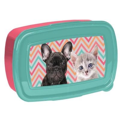 Svačinový box krabička na oběd Pes a kočka