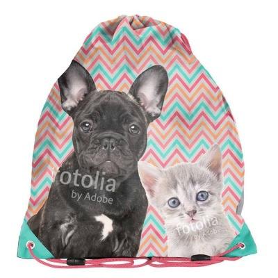 Školní pytel vak sáček Pes a kočka