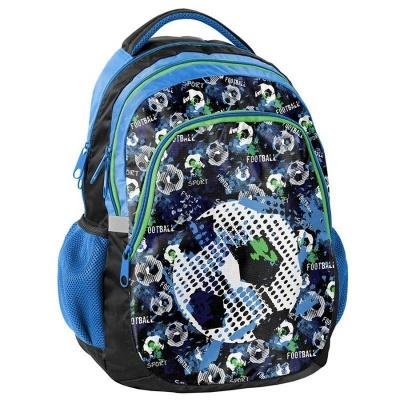 Školní batoh dvoukomorový Fotbal