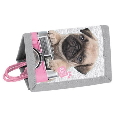 Dětská textilní peněženka Pes mops