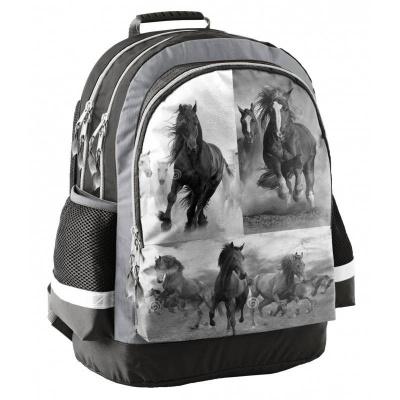 Školní batoh tříkomorový Koně