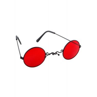 Brýle kulaté červené