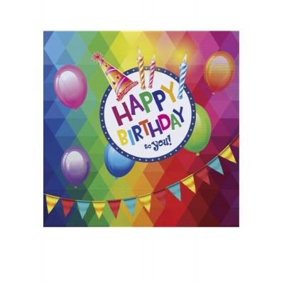 Ubrousky - Narozeniny Happy Birthday 20ks