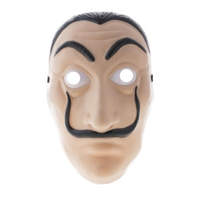 Maska Muž s knírem Hercule