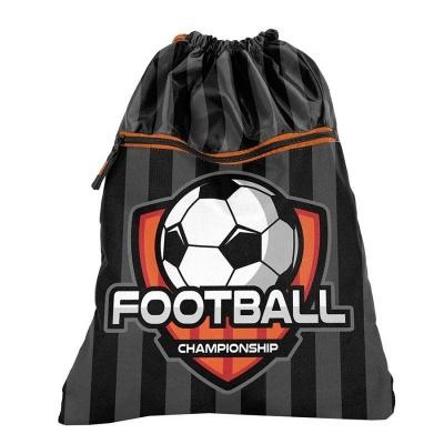 Batoh pytel vak s přední kapsou Fotbal oranžový