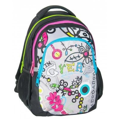 Studentský školní batoh DREAM BIG bílý