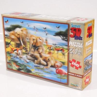3D Puzzle Slůňata - 100 dílků